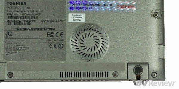 Toshiba Portege z830 - Core i5 - Thế hệ 2